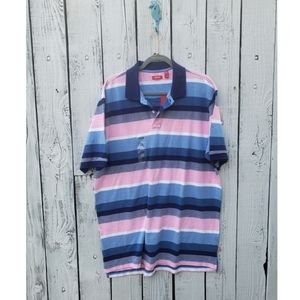 Men's Izod Collared Striped Shirt Size X-Large NWT